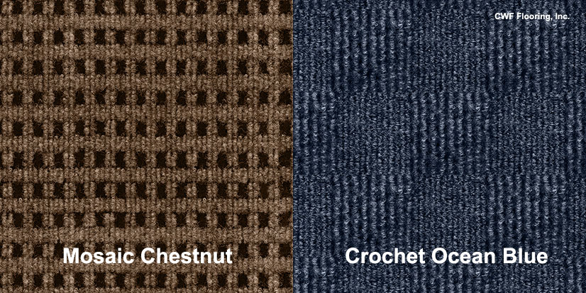 textured carpet squares