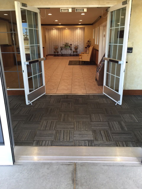 entrance way carpet tiles